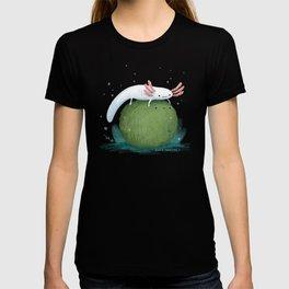 Axolotl on a Mossball T-shirt