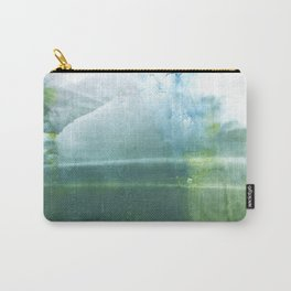 Green blue watercolor Carry-All Pouch