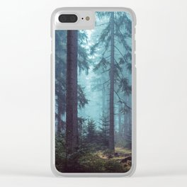 In the Pines (Vertical) Clear iPhone Case