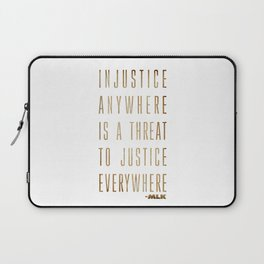 Martin Luther King Typography Quotes Laptop Sleeve