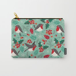 Christmas birds in snow Carry-All Pouch