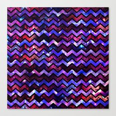 Galactic Chevron Canvas Print