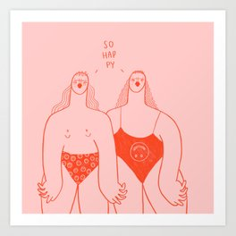 So Happy Art Print