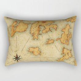 Treasure Island Old Map Rectangular Pillow