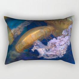 Pacific Sea Nettles Jellies Rectangular Pillow