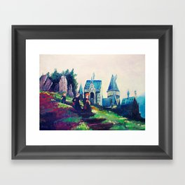 Off to Hagrids Framed Art Print