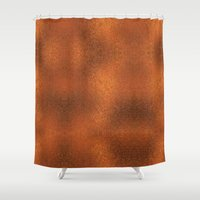 gold foil Shower Curtains featuring Gold Foil Texture 4 by Robin Curtiss