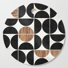 Mid-Century Modern Pattern No.1 - Concrete and Wood Cutting Board