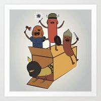 AT - Hog Dog Knights Art Print