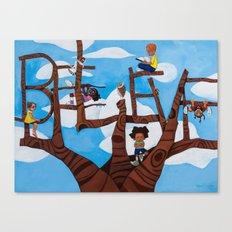 BELIEVE tree Canvas Print