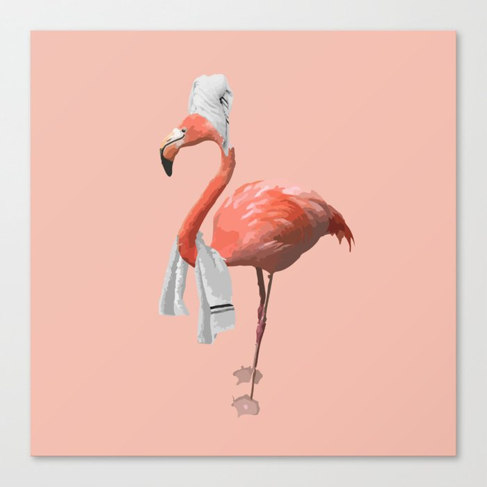 Squeaky Clean Flamingo Leinwanddruck