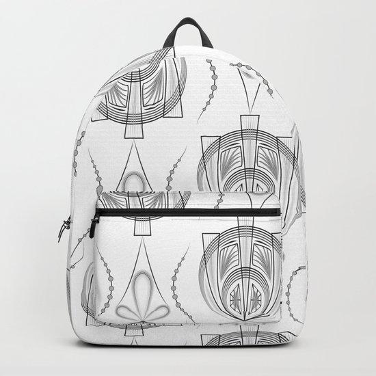 Art Deco 40 . Light Grey background Forever . Backpack