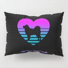 Alaskan Malamute Love Cyberpunk Vaporwave Dog Puppy Gift Pillow Sham