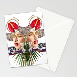 Faces by Lenka Laskoradova Stationery Cards
