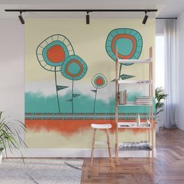 Four Wild Flowers Wall Mural