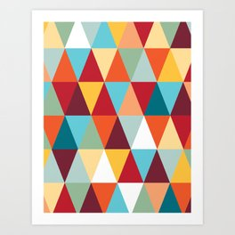 Geometric Color #abstract #bright #triangles Art Print