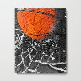 Basketball Art, Sports Artwork Metal Print