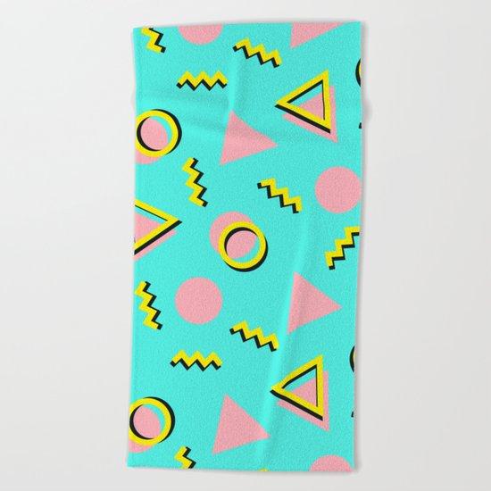 Memphis pattern 61 Beach Towel