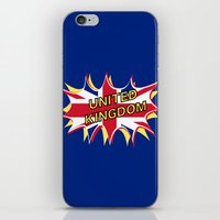 union jack iPhone & iPod Skins featuring Union Jack by mailboxdisco