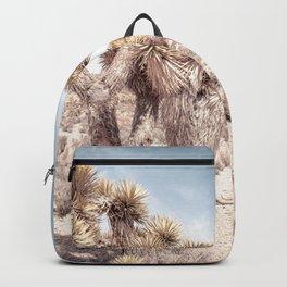 Cactus Closeup // Dusty Blue Sky Desert Landscape Yellow Tan Southwest Vibes Backpack