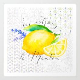 Les Citrons de Menton—Lemons from Menton, Côte d'Azur Art Print