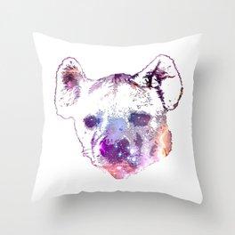 Space Hyena Throw Pillow