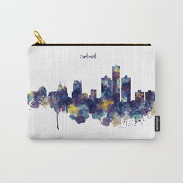 Detroit Skyline Silhouette Carry-All Pouch