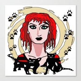 The Cat Enchantress Canvas Print