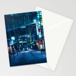 From My Umbrella -Snowy Night- Stationery Cards