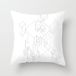 Split Cube Throw Pillow