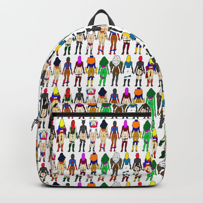 Superhero Butts - Girls - Row Version - Superheroine Backpack