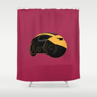 tron Shower Curtains featuring Tron by FilmsQuiz