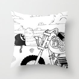 Once Upon a Time a Sunset  Throw Pillow