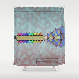 La Guitarra Canaria Shower Curtain