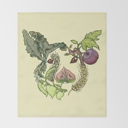 Botanical Pig Throw Blanket