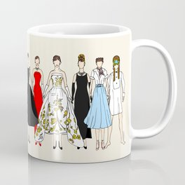 Audrey Fashion Vintage Retro in Cream Coffee Mug
