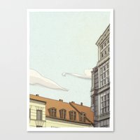 building Canvas Prints featuring Building by Alberto Madrigal