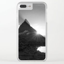 Shining Matterhorn Clear iPhone Case