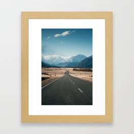 Road to Mt Cook, New Zealand Framed Art Print