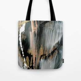 01025: a neutral abstract in gold, black, and white Tote Bag