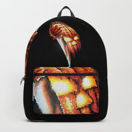 Halloween Pumpkin Stained Glass Backpack