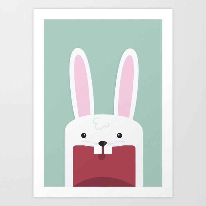 Jawdrop Bunny Art Print