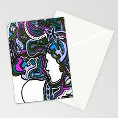 Purple Techno Stationery Cards