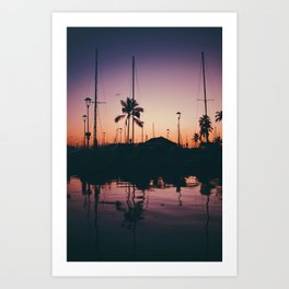 Purple and Orange Skies Art Print