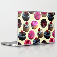 cupcakes Laptop & iPad Skins featuring Cupcakes by Tangerine-Tane