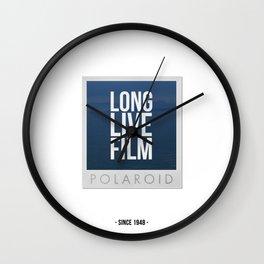 Long Live Film  Wall Clock