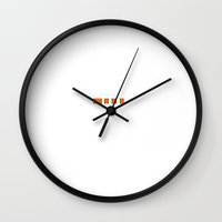 finding nemo Wall Clocks featuring Finding Nemo by Danny Ivan