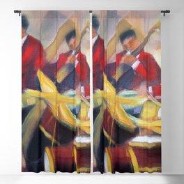 Harlem Renaissance Savoy Ballroom Jazz Age African American Musical portrait painting M. Fillonneau Blackout Curtain