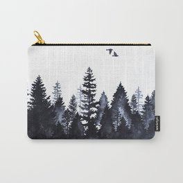 Forest Silhouette Watercolor Carry-All Pouch