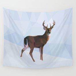 Reindeer in a winterwonderland Wall Tapestry